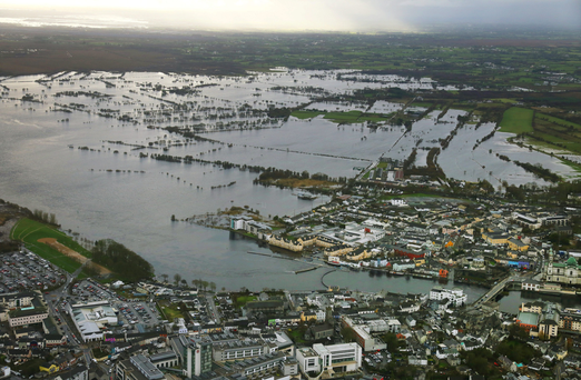 Aerial view of Athlone town. Photo: Peter Barrow