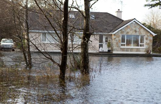 The Cannon family home in Donegal became part of a local lake due to the flooding