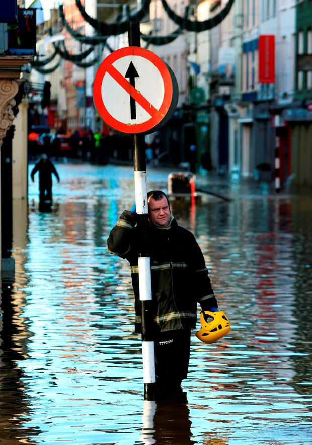 Previous flooding in Bandon, Co Cork. Picture PA