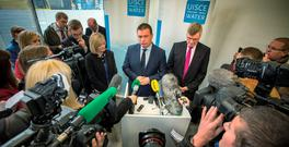 Environment Minister Alan Kelly with Irish Water chief John Tierney