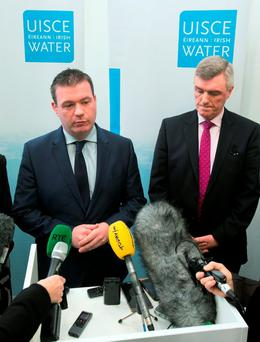 Environment Minister Alan Kelly, left and John Tierney, managing director of Irish Water