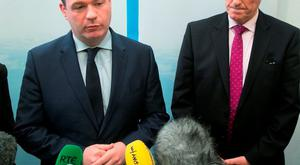WATER WORKS: The Minister of Environment, Alan Kelly, left and John Tierney, managing director of Irish Water