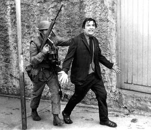 John Hume at a civil rights protest in Derry in 1971.