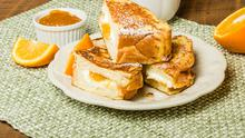 French Toast with Marmalade Syrup and Mascarpone