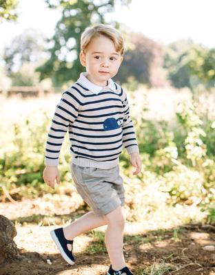 King in waiting: Prince George celebrated his third birthday last week, prompting his father Prince William to comment how 'spoilt' he'd been  Photo: TPX Images of the Day