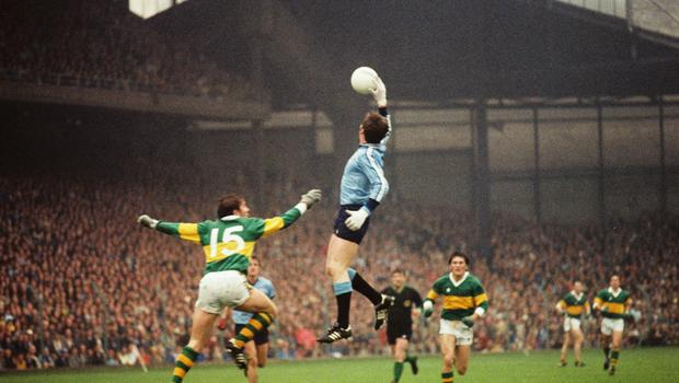 Dublin and Kerry players in action during the 1978 All-Ireland Football Final.