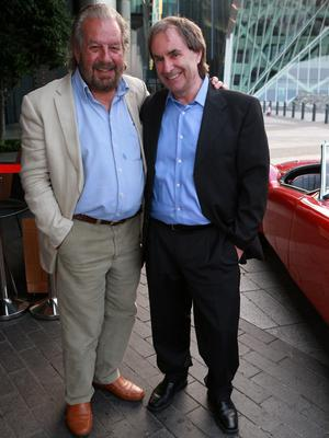 Paolo Tullio with Chris de Burgh at the launch of Paolo's book 'Longing and Belonging'