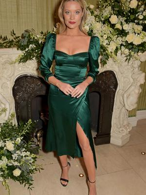 Laura Whitmore attends the British Vogue and Tiffany & Co. Fashion and Film Party at Annabel's in London, England. Photo: David M. Benett/Dave Benett/Getty Images