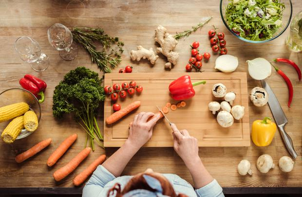 Veg out: More people are trying the vegan diet (stock image)