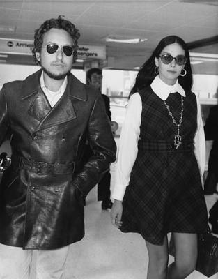 Dylan and his first wife Sara Lownds, for whom he wrote the song 'Sara' which is on the album 'Desire'