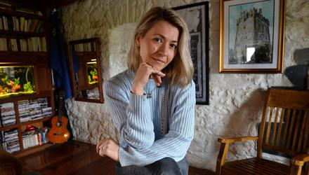 Life model Corina Arcus pictured in Caher Castle, Craughwell, Co Galway. Photo: Ray Ryan