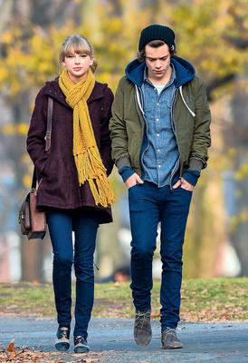 Taylor Swift and Harry Styles walk in New York's Central Park in 2012.
