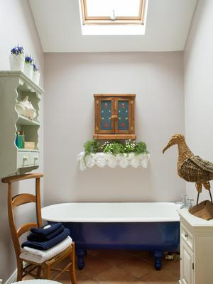 Deirdre had the bathroom extended and the bath, which was already in the house, re-enamelled