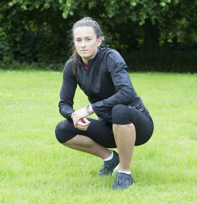 Taking it in her stride: Ciara Neville won't have time to party after her exams