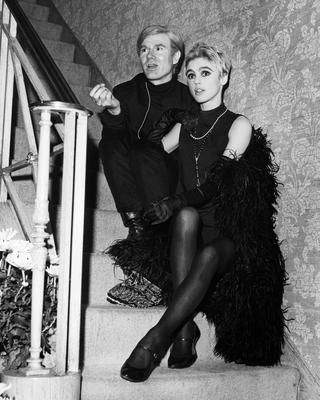 Artist Andy Warhol and his muse Edie Sedgwick, who was rumoured to have had an affair with Dylan