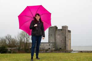 No place like home: Jill Holtz, a new Irish citizen who lives in Oranmore, Galway. Photo: Andrew Downes/ Xposure