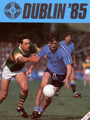 The 1985 Dublin County Board publication featuring Kevin Moran on the cover.