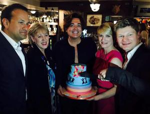 Party policy: Leo Varadkar, Heather Humphreys, Eamon Farrell, Averil Power and Steven Mannion at the party hosted by Eamon and Steven