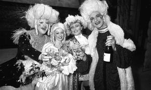 In panto with Frank Kelly, Julie Blunden, Twink and Des Keogh in 1985