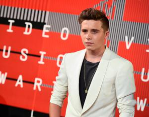 Brooklyn Beckham arrives at the MTV Video Music Awards at the Microsoft Theater on Sunday, Aug. 30, 2015, in Los Angeles.