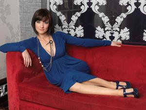 Lady on red: Jennifer Maguire from a photoshoot she did for VIP Magazine a few years ago.