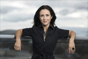 Coping on her own ... Maia Dunphy is finding not seeing her parents difficult but she is coping well at home with her son Tom.  Photo: David Conachy