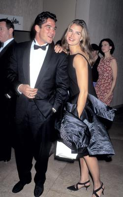 Brooke Shields with Dean Cain, then star of 'Lois & Clark: The New Adventures of Superman', to whom she lost her virginity aged 22.