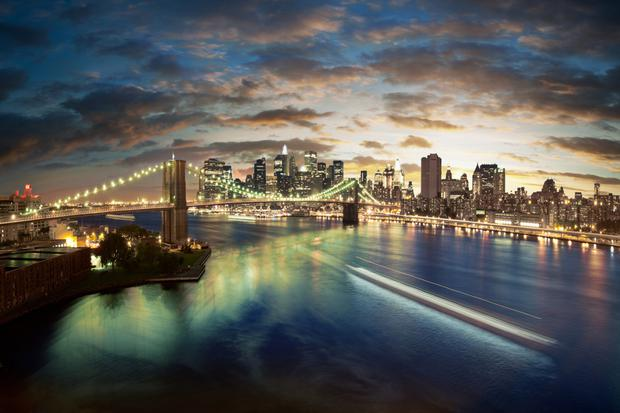 The New York skyline at night. An unforgettable sight