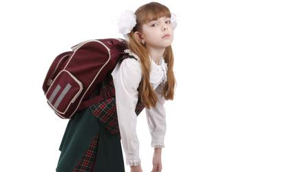 Schoolbags are a must-have for kids. Picture posed
