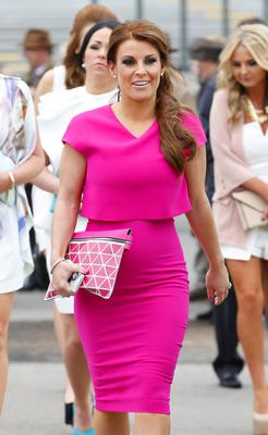 Face off: Coleen Rooney (pictured) and Rebekah Vardy