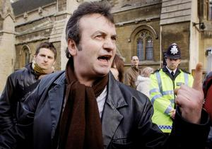 Sorry: Gerry Conlon outside the House of Commons in 2005 after receiveing a personal apology from Tony Blair