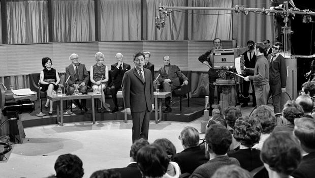 Roll on: Gay Byrne in the The Late, Late Show studio in 1969
