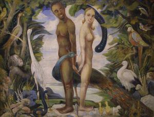 Adam and Eve by Anton Jasusch
