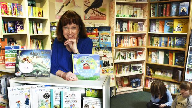 Janet Hawkins, owner of the Blessington Bookstore in Bessington Co.Wicklow. Photograph Moya Nolan