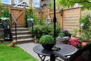 The most obvious way to create privacy in a garden is through erecting a fence