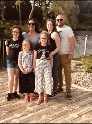 Rachel Keogh with her family