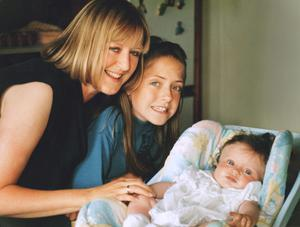 Jane McKenna and her daughters Laura and Lynn.