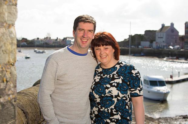 Claire and Tom Dalton both work at the Dungarvan Brewing Company, and this year Claire is CEO of the West Waterford Festival of Food. They married in 2006 and have two sons, Ronan and Colm. Photo: Patrick Browne