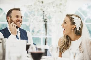 Raise a glass: Laura wanted to speak for herself at her wedding to Barrie