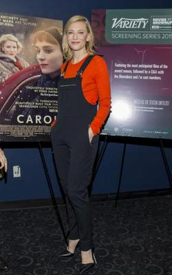 Cate Blanchett in dungarees