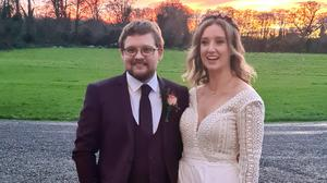Caoimhe and Owen on their wedding day last month