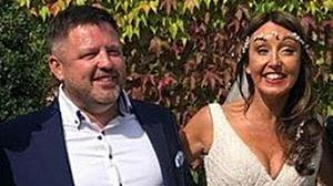 Soul mates: Zoe Holohan and Brian O'Callaghan Westropp on their wedding day in 2018