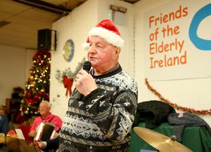 Former docker: Jim Moore at Friends of the Elderly in Dublin.  Photo: Gerry Mooney