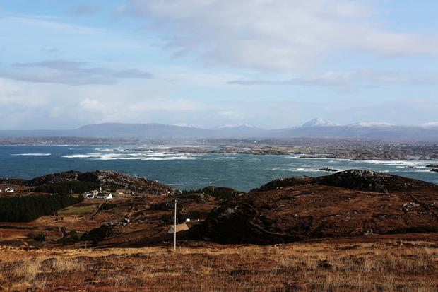 A view of the mainland from the island
