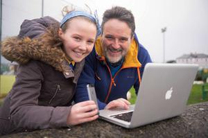 Juliette and Stephen Macken from Derrydonnell where Apple are to open a new data centre
