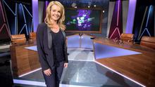 Claire Byrne on the set of her RTE show.