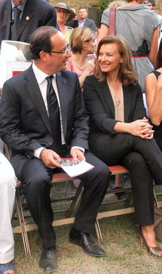Valerie Trierweiler with Francois Hollande in 2012