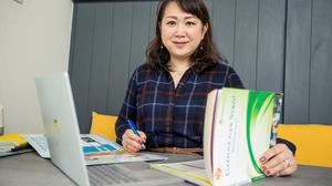 Mariko Shimaguchi from Japan is now learning Gaeilge along with her son. Photo: Gerry Mooney