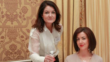 Rules of dining: Deirdre Reynolds and Orla Brosnan go through table manners