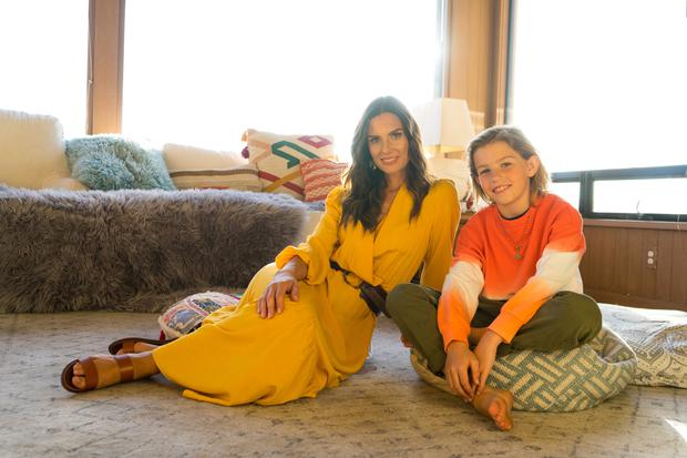 Alison with son James, who wears: all Marks and Spencer